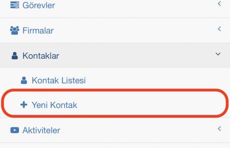 Formeras Türkçe CRM 4_Kontak_olusturma_1c